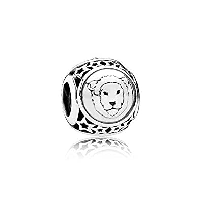 f5f4e6926 Image Unavailable. Image not available for. Color: Pandora Leo Star Sign  Silver Charm 791940