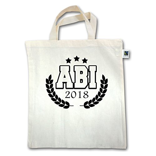 Abi & Gradation - Badge College Abi 2018 - Unisize - Natural - Xt500 - Manico Corto In Juta