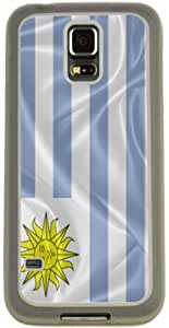 chen-shop design Rikki KnightTM Uruguay Flag Design Samsung? Galaxy S5 Case Cover (Clear pc with Bumper Protection) for Samsung Galaxy S5 i9600 high quality
