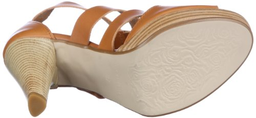 350 Sandals Dora Cognac Fashion Comma Braun Womens wYHWTx7
