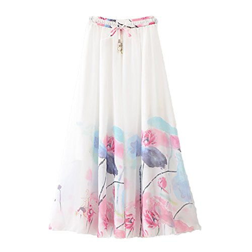 Eleter Girl's Chiffon Skirt Long Skirt Fit S-M (New-Picture2)