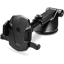 Spigen Kuel AP12T OneTap Car Phone Mount Universal Car Phone Holder With OneTap Technology for iPhone X / 8 / 8 plus / 7 / 7 Plus / 6S / 6S Plus / Galaxy Note 8 / S8 / S8 Plus / S7 Edge & More - Black