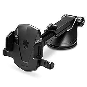 Spigen Kuel AP12T OneTap Car Phone Mount Universal Car Phone Holder With OneTap Technology for iPhone X / 8 / 8 plus / 7 / 7 Plus / 6S / 6S Plus / Galaxy Note 8 / S8 / S8 Plus / S7 Edge & More - Black