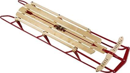 "Flexible Flyer Large Steel Runner Sled. Metal & Wood Steering Snow Slider. Adult 60"" best sleds"
