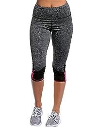 BeneGreat Women Basic Capris High Waist Tummy Control Pants Print Leggings