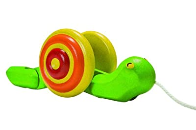 Plan Toys Preschool Pull Along Snail by Plan Toys