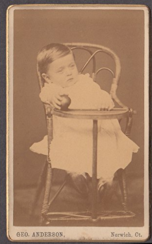 Toddler In High Chair Holding A Ball Cdv By Geo Anderson Norwich Ct 1878