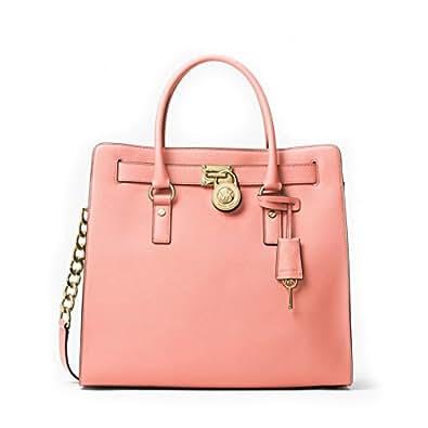 1d30ffb3ef7653 MICHAEL Michael Kors Hamilton Large Saffiano Leather Tote - Pale Pink:  Handbags: www.