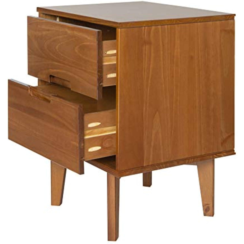 Walker Edison Furniture AZR2DSLNSCA nightstand Caramel
