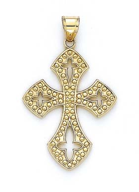 14 carats Style croix gothique JewelryWeb