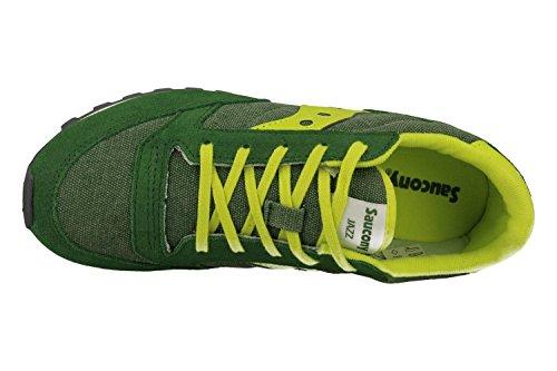 SAUCONY SY55552 JAZZ verde amarillo los zapatos verdes chico chico trampa Verde