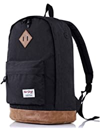 [HotStyle City Outdoor] 936 Plus College Backpack with Padded Laptop Sleeve, Black