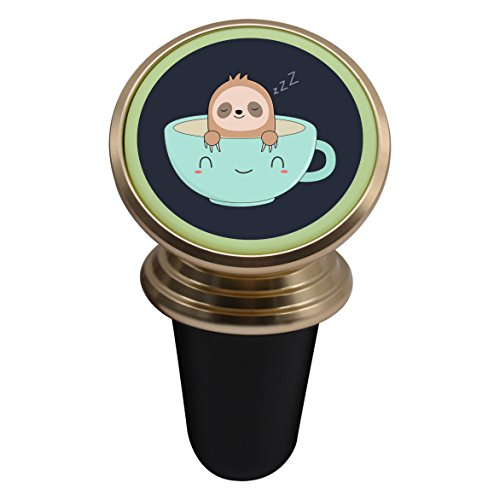 Cute Sloth Coffee Magnetic Stand Holder Mobile Phone Bracket Cellphone Car Mount Holder For ()
