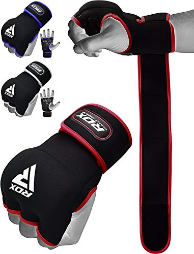 RDX Hand Wraps Boxing Inner Gel Gloves MMA Fist Knuckle Protector Muay Thai Fist Bandages Padded Mitts ()
