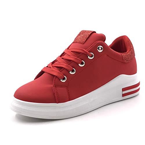 2 Talon Femme Rayures Street Baskets Tennis 5 Chaussure Rouge Plateforme Compensé Mode Glitter Cm Strass Angkorly wHYq7v