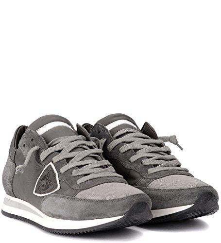 Pelle Model Suede Sneaker Tropez Grigia e Philippe Grigio in YwdH7Yq