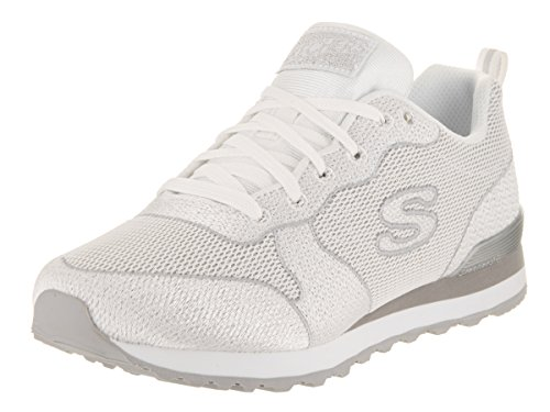 Skechers Ladies Sneakers Og 85 Shimmer Time Black White (wht)