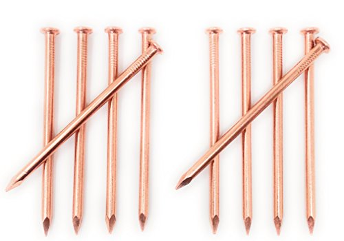 4 Inch Copper Nails - Pack of 10 Solid Copper Nail Spikes