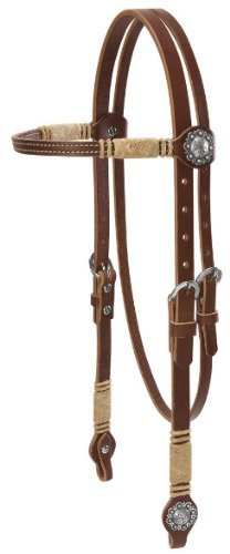(Weaver Rawhide Hand Braided Browband Headstall)