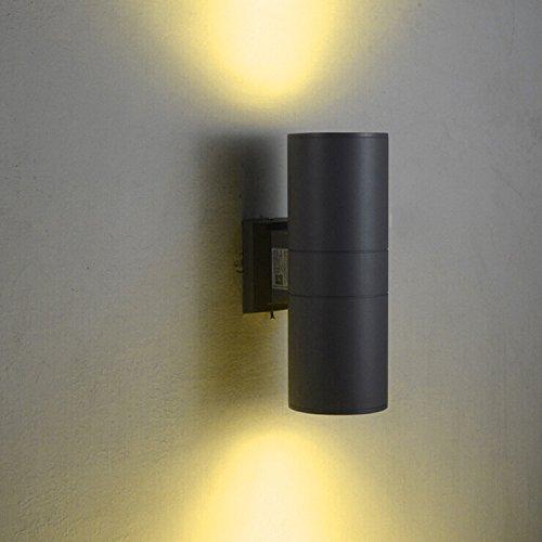 LUMINTURS 20W 4-Inch LED COB Wall Sconces Exterior Up/Down Light Black fi…