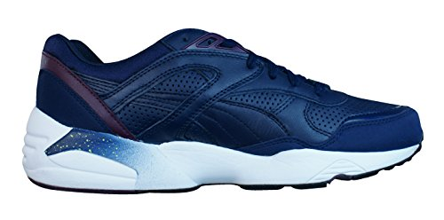 Puma R698 LEATHER Chaussures Mode Sneakers Homme Cuir Bleu Trinomic