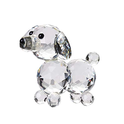 (Startview Transparent Crystal Dog Figurine Crystal Mascot Table Ornament, Mini Collectible Figurines Kids)