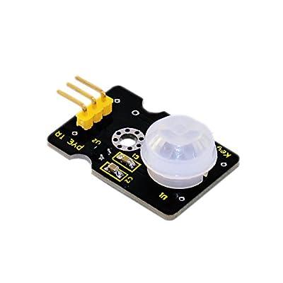 keyestudio PIR Motion Sensor for Arduino, Pyroelectric IR Motion Sensor for Human Body Motion