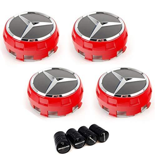 CLASSE A B C E CLA CLK M ML S Alloy Wheel Studs UG x4 Wheel Centre Caps 75 mm Logo Mercedes AMG