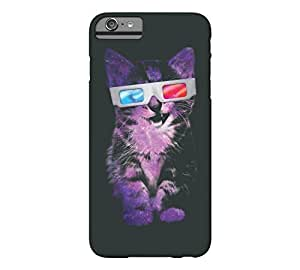 3D Sace Cat iPhone 6 Plus Dark jungle green Barely There Phone Case