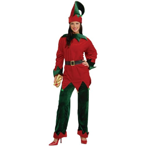 Forum Novelties Men's Deluxe Santa's Helper Costume, Multi, Standard