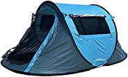 LIVINGbasics 2-Person Instant Pop-Up Tent Cabin for Camping Hiking Mountaineering (Waterproof and UV Sunlight