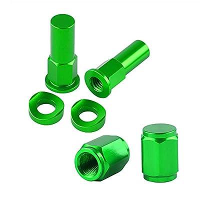 Dirt Bike Aluminum Billet Rim Lock Covers Nuts Washers Bolt Spacer Motocross Air Valve Cap (Green): Automotive