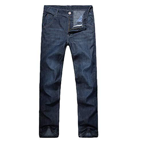 Casual Azzurro Mid Larghi Attillati Dimensione Blue Dritti Lunghi 33 Jeans Fuweiencore colore AZEwOq
