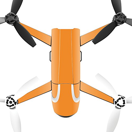 MightySkins Skin for Parrot Bebop 2 - Solid Orange | Protective, Durable, and Unique Vinyl Decal wrap Cover | Easy to Apply, Remove, and Change Styles | Made in The USA