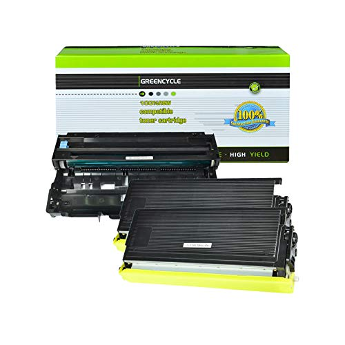 (GREENCYCLE Compatible TN460 Toner Cartridge and DR400 Drum Unit Replacement Use with Brother DCP-1200 DCP-1400 HL-1250 HL-1270n MFC-8500 Intellifax 4100 4100e 5750 Printer(Black, 2 Toner, 1 Drum))