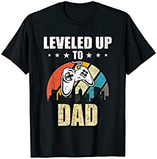 [Featured] Leveled up to Dad Funny Video Gamer Gaming Gift in ALL styles | Size S - 5XL