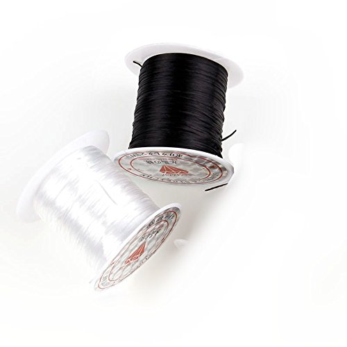 165ft 1mm Mix Color Stretch Elastic Spool Rope Cord Crystal String for DIY Jewelry Making Beading Bracelet Wire Fishing Thread Rope 2 Pack