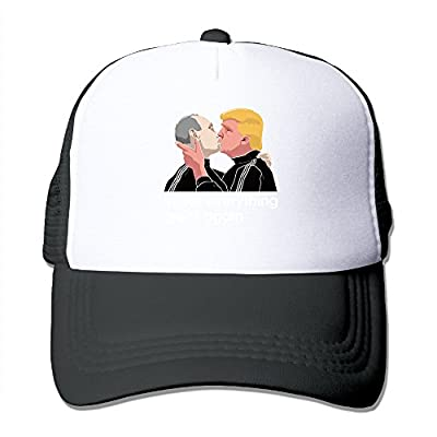Trump Kissing Putin Trucker Hat Adjustable Snapback Strap Mesh Cap (6 Colors)