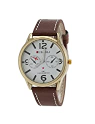 JUBAOLI GMT CHRONOMETER Printed Leather Band Sport Watch