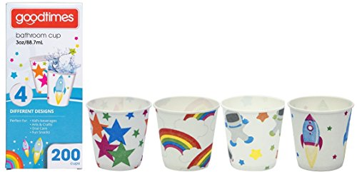 Goodtimes Bathroom Cups, 3 oz 200 ea, Assorted designs (1, Child)