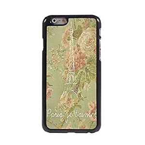 SHOUJIKE Peony Tower Design Aluminum Hard Case for iPhone 6 Plus