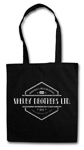 "SHELBY BROTHERS LTD. ""J"" Hipster Shopping Cotton Bag Borse riutilizzabili per la spesa - Peaky Birmingham Gang Mob Company Mobster Criminal Tommy Blinders"