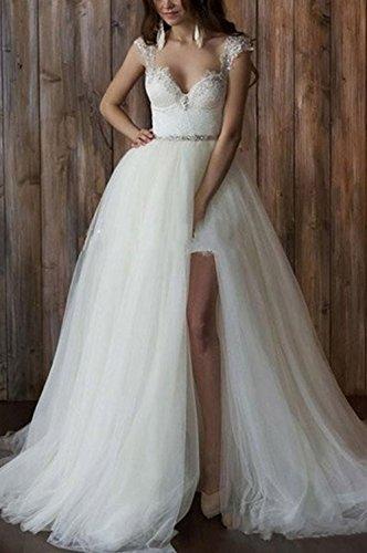 Detachable Lace Sexy Women's Wedding Mermaid Dress Dobelove Train Ivory EqwIpU