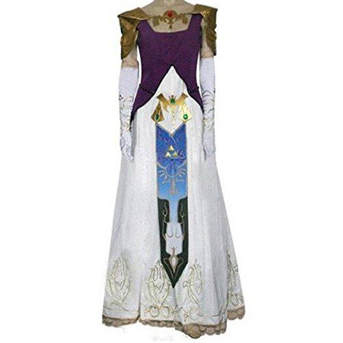 The Legend of Zelda Prinzessin Zelda Cosplay Kostüme Brauch(Mailen Sie uns Ihre Größe),Größe L:165-170 cm