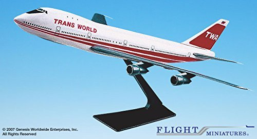 Trans World Airlines (TWA) (74-95) 747-100/200 (1:250); - Airline Diecast