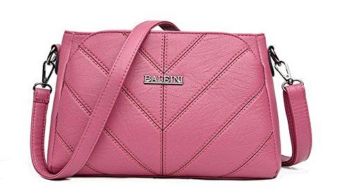 Pink Shopping Casual Shoulder GMDBB180884 AgooLar Women's Clutch Bags Pink Bag Zippers Pu 6HHOp1