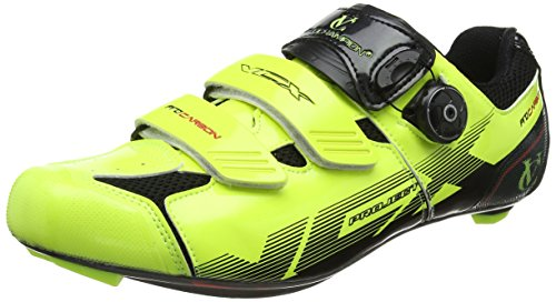 carbone de Shoes avec semelles Chaussures Fluoro cyclistes Yellow Cycle Black fibres VeloChampion paire VCX A0Iq8