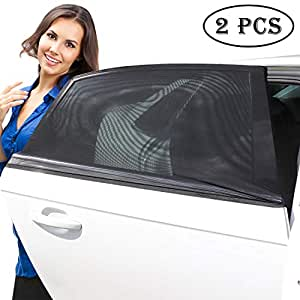 Covers Rear Side Windows Blocks UV Rays APlus Car Window Shades 2 Pack Universal Easy Fit Premium Quality Car Sun Shades Protects Baby Kids And Pets