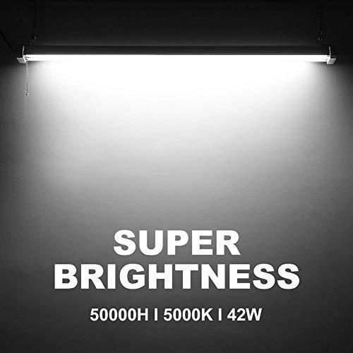 42W Linkable LED Shop Light for Garage BBOUNDER 4FT 5000K LED Work Shop Light LED Utility Shop Light Ceiling Fixture (12 Pack) by BBOUNDER (Image #5)