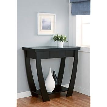 IoHOMES Bond 1 Drawer Console/Sofa Table, Black